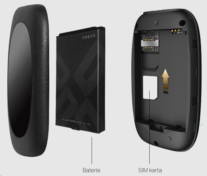 TP-Link M7200, 4G LTE Mobile Wi-Fi, int.4G Modem, 2000mAh baterie, LTE/HSPA+