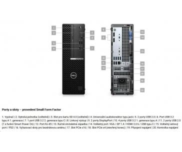 DELL OptiPlex 5080 SFF/Core i7-10700/16GB/256GB SSD/Integrated/TPM/DVD RW/Kb/Mouse/W10Pro/3Y ProSpt
