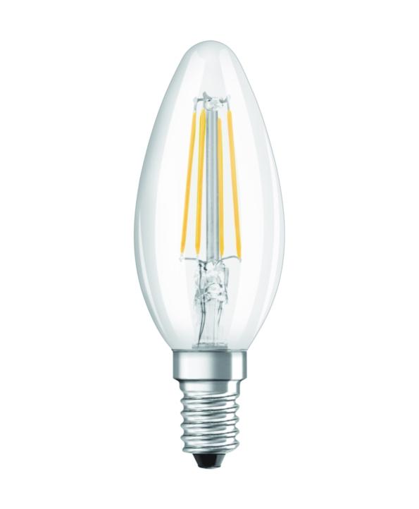 OSRAM LED Filament STAR ClasB  230V 4W 840 E14 noDIM A++ Sklo čiré 470lm 4000K 15000h (blistr 2ks)