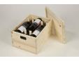 Dřevěná bedna na 6 lahví