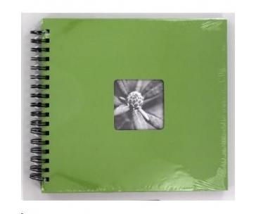 Hama album klasický špirálový FINE ART 28x24 cm, 50 strán, jablková zelená