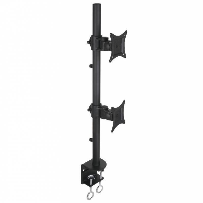 Techly Dvojité rameno na LED/LCD 13''-27'' 2x10kg, na stůl, svislé nastavitelné