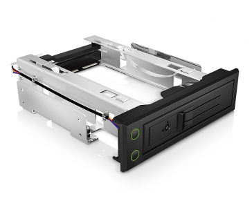 IcyBox Trayless Mobile Rack for 3.5'' SATA/SAS HDD, Black