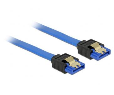 Delock Cable SATA 6 Gb/s receptacle straight->SATA receptacle straight 1m blue
