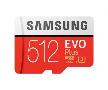 Samsung Micro SDXC karta 512GB EVO Plus (Class 10 UHS-3) + SD adaptér
