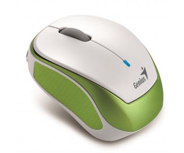 GENIUS myš MicroTraveler 9000R V3/ 1200 dpi/ bezdrátová/ dobíjecí/ bílozelená