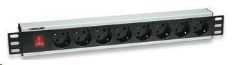 "Intellinet 19"" Rackmount 8-Way Power Strip - German Type, rozvodný panel, 8x DE zásuvka, 3m kabel"