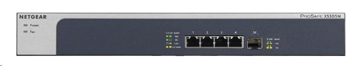 Netgear XS505M 10-Gigabit/Multi-Gigabit Switch, 4x10GbE RJ45, 1x 10GbE SFP+