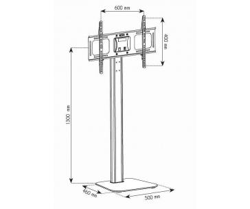 TECHLY 028863 Techly Podlahový stojan TV LCD/LED/Plasma 32-70 50kg VESA nastavitelný