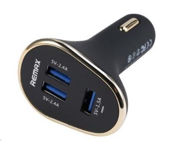 REMAX auto adaptér do zapalovače - 6,3 A, 3x USB výstup