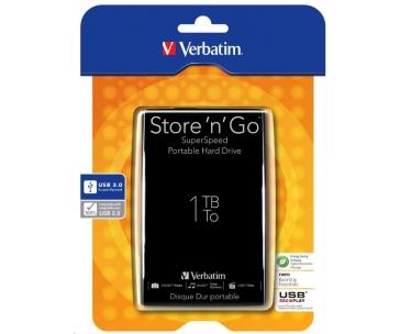"VERBATIM HDD 2.5"" 1TB Store 'n' Go USB 3.0, Black"
