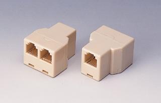 Dvojspojka RJ45, 1x8p8c/2x8p8c - telefonní