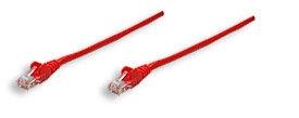 Intellinet Patch kabel Cat5e CCA U/UTP PVC 0.5m červený - 100% měď