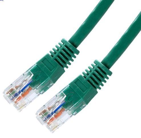 Patch kabel Cat5E, UTP - 7m, zelený
