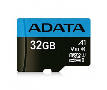 ADATA Premier MicroSDHC 32GB karta UHS-I Class 10, Up To 85MB/s + adaptér