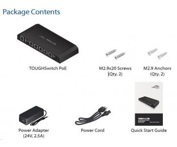 UBNT EdgeSwitch 5XP PoE [náhrada za ToughSwitch TS-5-POE, 5x Gigabit POE portů, 24V]