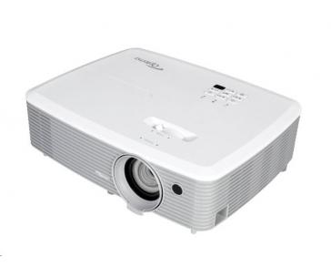 Optoma projektor W400 (DLP, WXGA, Full 3D, 4000 ANSI, 22 000:1, USB, VGA, HDMI with MHL, 2W speaker)