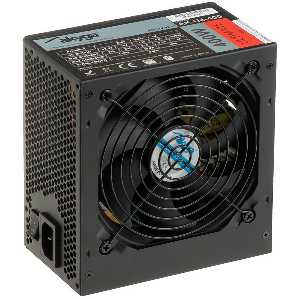 Akyga Ultimate ATX Power Supply 400W AK-U4-400 80+Bronze Fan12cm P8 4xSATA PCI-E