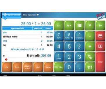 "ROZBALENO - WINTEC IDT800 EET pokladna 8"", tiskárna 57mm, zákaznický display + SW EET-POS"