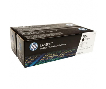 HP 128A Black 2-pack LJ Toner Cart, 2 x 2 000 str, CE320AD