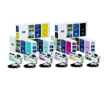 HP 81 Cyan Printhead + Printhead Cleaner, C4951A