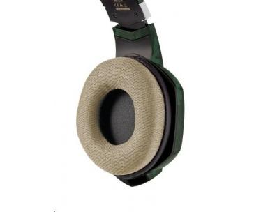 TRUST Sluchátka s mikrofonem GXT 322 Dynamic Headset - zelená kamufláž