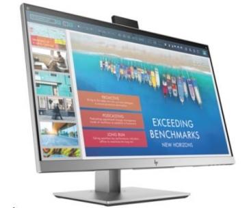 """HP LCD E243d 23,8"""" docking monitor (1920x1080,IPS,250nits,1000:1,7ms,1xUSB-C3toNTB 65w,1xVGA,4xUSB 3.0,ethernet, usb-c)"""