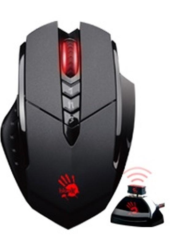 A4tech Bloody R70A, bezdrátová herní myš, černá, USB, CORE 3