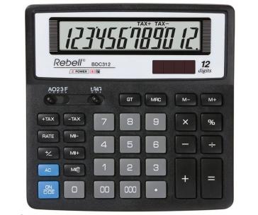 REBELL kalkulačka - BDC312 - černá