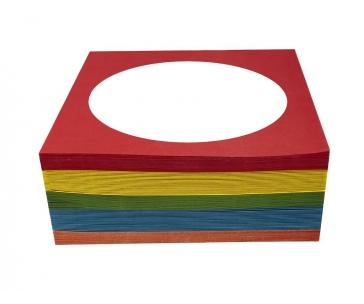ESPERANZA 5053 - 5905784761886 Esperanza Papírové pošetky s okénkem na CD 100 ks, mix barev