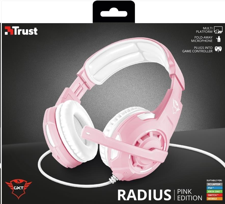 TRUST GXT 310P Radius Gaming Headset - pink