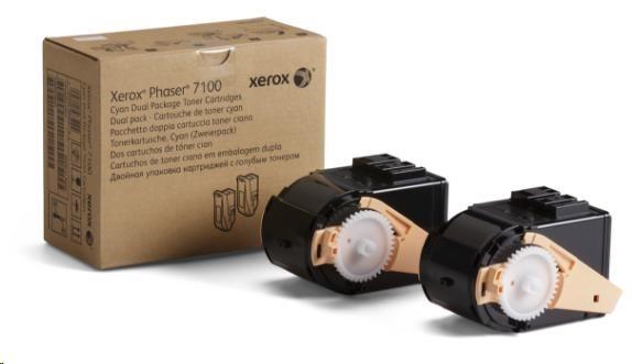 Xerox toner Cyan 2x pro Phaser 7100, 9000 str.
