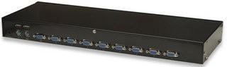 Intellinet 8-Port Rackmount KVM Switch, USB + PS/2, včetně 8 ks kabelů