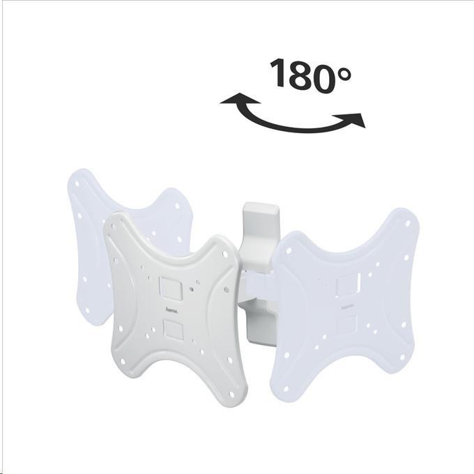 Hama nástenný držiak TV, 1 rameno (2 kĺby), 200x200, 5*, biely