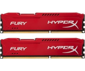 KINGSTON HX318C10FRK2/8 Kingston DDR3 8GB (Kit 2x4GB) HyperX FURY DIMM 1866MHz CL10 červená