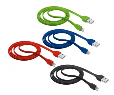 TRUST Flat Lightning Cable 1m - red