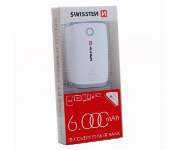 SWISSTEN Powerbanka 6000mAh, LED