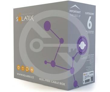 SOLARIX SXKD-6-UTP-LSOH-305 Solarix Instalační kabel CAT6 UTP LSOH drát 305m/box
