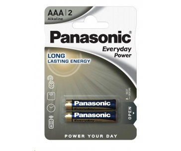 PANASONIC Alkalické baterie Everyday Power  LR03EPS/2BP AAA 1,5V (Blistr 2ks)