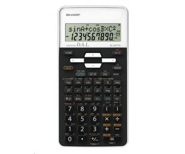 SHARP kalkulačka - EL531THBWH - bílá - blister