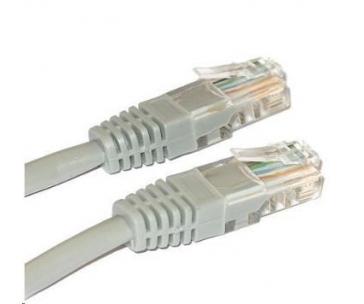 Patch kabel XtendLan Cat5E, UTP, křížený - 0,5m, šedý