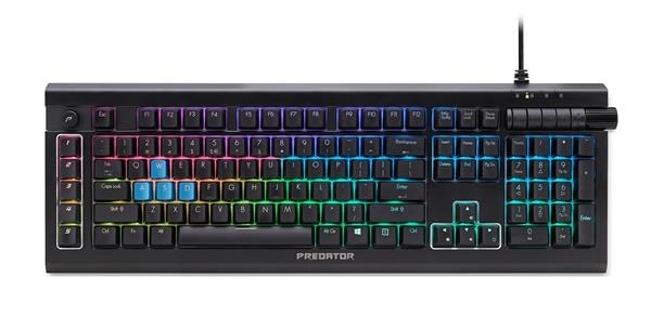 ACER PREDATOR GAMING Keyboard Aethon, USB Standard, RGB Backlight, US International, black