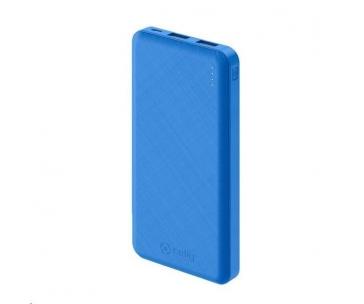 Celly powerbanka Energy, 10000 mAh, 2x USB, modrá