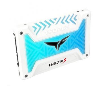 """Team SSD 2.5"""" 500GB T-FORCE Delta S RGB (12V), 3D NAND, White"""