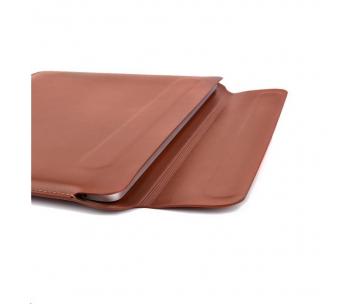 COTEetCI PU tenké pouzdro s magnetickým zapínáním pro Apple Macbook Pro  & Air 13 hnědá