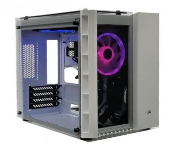 Corsair PC skříň Crystal Series 280X RGB Micro-ATX, tvrzené sklo, bilá