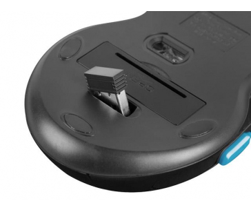 NATEC NFU-1320 Fury Herní bezdrátová myš STALKER 2000 DPI černá-modrá