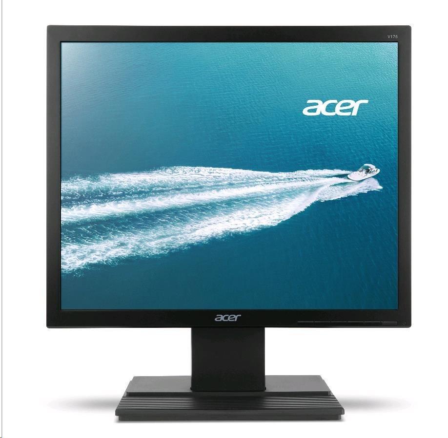 "ACER LCD V176LB, 43CM (17"") TFT, 100M:1, 5ms, 5:4, 1280x1024, 170°/ 160°, VGA, 250cd/m2, Comfy View"