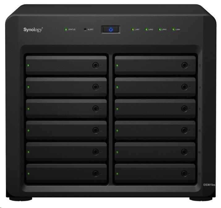 Synology DS3617xs DiskStation (2,2GHz/16GBRAM/12xSATA/4xGbE/1xPCIe)