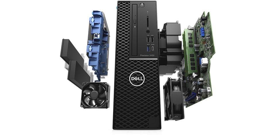 DELL Precision T3430 SFF/Xeon E-2146G/16GB/256GB PCIe + 1TB 7.2k/P1000-4GB/Win10 Pro/3Y ProSupport NBD